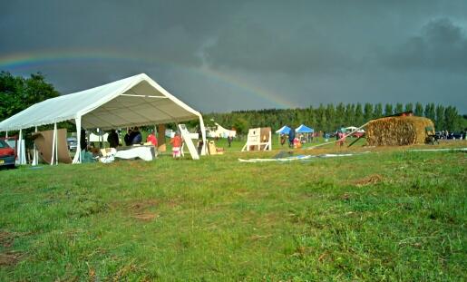 Rainbow at Flat Lake